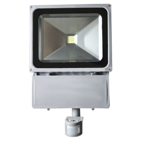 Refletor Holofote LED 100w Sensor de Presença Branco Frio 6000k