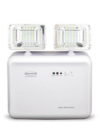 Luminária de Emergência LED 1200 Lúmens | 2 Faróis