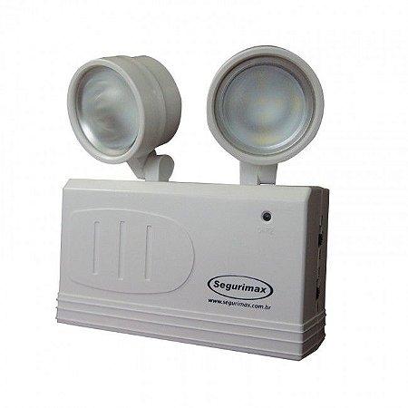 Luminária de Emergência LED 200 Lúmens   2 Faróis