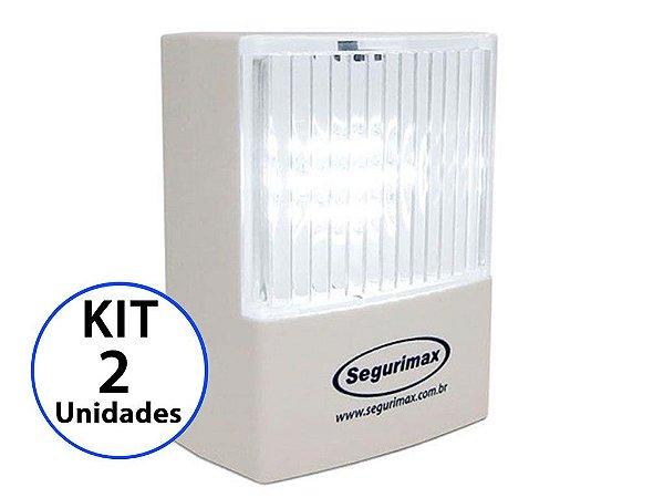 Kit 2 Luminária de Emergência LED 50 Lúmens | Plug Retrátil