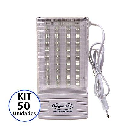 Kit 50 Luminária de Emergência 300 Lúmens | Premium