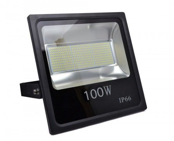 Refletor Holofote MicroLED SMD Slim 100W Branco Frio 6000k