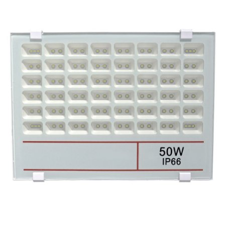 Refletor Holofote MicroLED 50W Multifocal Branco Frio 6000k Fosco