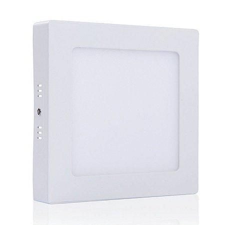 Luminária Plafon 18w LED Sobrepor Branco Natural 4000k