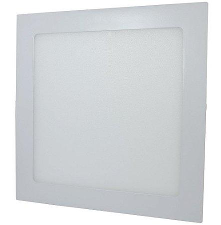 Luminária Plafon 18w LED Embutir Branco Frio 6000k