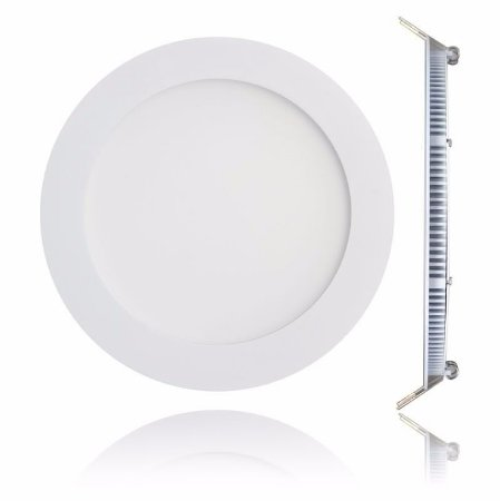 Luminária Plafon 18w LED Embutir Branco Quente 3000K