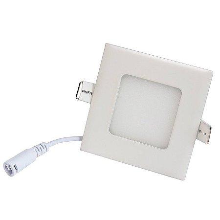 Luminária Plafon 3w LED Embutir Branco Quente 3000K
