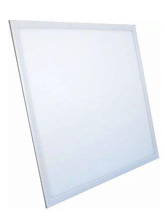Luminária Plafon 60x60 40W LED Embutir Branco Quente 3000K