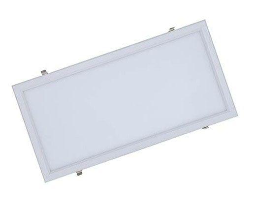 Luminária Plafon 30x60 41W LED Embutir Branco Quente 3000K Borda Branca