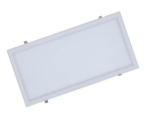 Luminária Plafon 30x60 24w LED Embutir Branco Frio 6000k Borda Branca