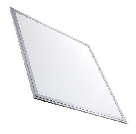 Luminária Plafon 60x60 30W LED Embutir Branco Frio 6000k Borda Aluminio