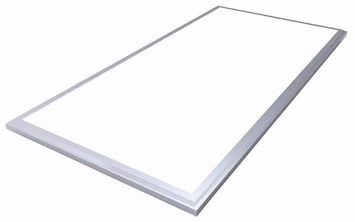 Luminária Plafon 30x60 18w LED Embutir Branco Frio 6000k Borda Aluminio