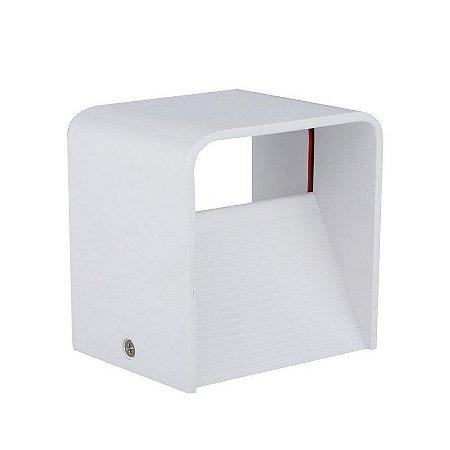 Luminária Arandela LED 3W Branco Quente 3000K Cubo
