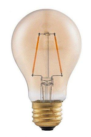 Lâmpada LED Bulbo A60 4W Vintage Carbon Branco Quente 3000K