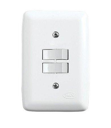 Conjunto 2 Interruptores Paralelos de Embutir 10A Branco