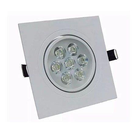 Spot 7W Dicróica LED Direcionavel Base Branca