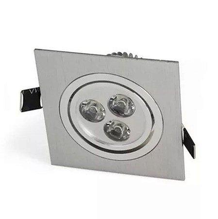 Spot 3W Dicróica LED Direcionavel Base Alumínio