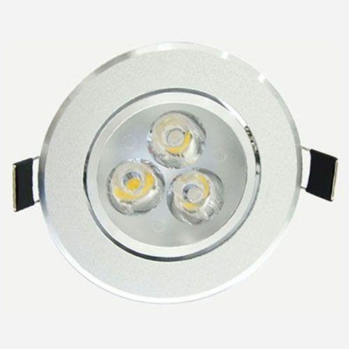 Spot Dicróica 3w LED Redondo Direcionável Corpo Aluminio Branco Frio 6000k