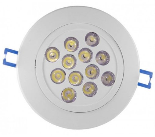 Spot Dicróica 12w LED Redondo Direcionável Corpo Branco Branco Frio 6000k