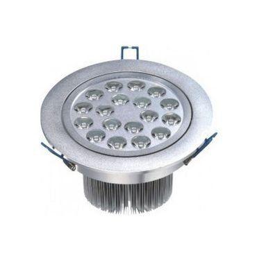 Spot Dicróica 18w LED Redondo Direcionável Corpo Aluminio Branco Frio 6000k