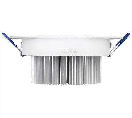 Spot Dicróica 9w LED Redondo Direcionável Corpo Branco Branco Frio 6000k