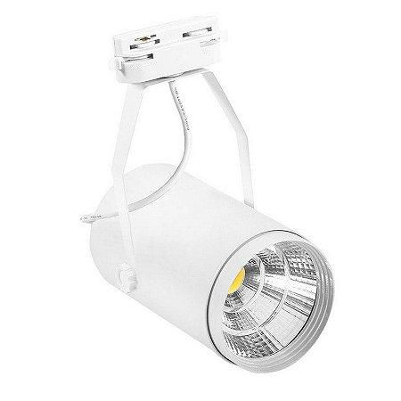 Spot LED Cob 20w 3500K para Trilho Eletrificado Branco
