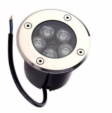 Spot Balizador LED de Chão 5W Branco Frio 6000k para Piso