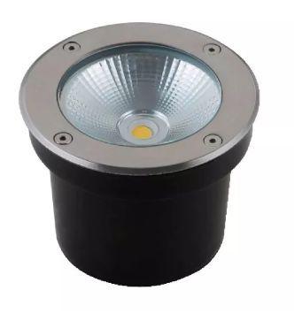 Spot Cob Balizador LED 7W Branca   Branco Quente 3000K para Piso