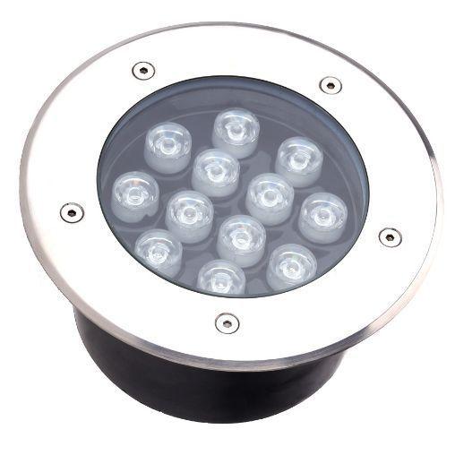 Spot Balizador LED de Chão Chão 12W Branco Frio 6000k para Piso