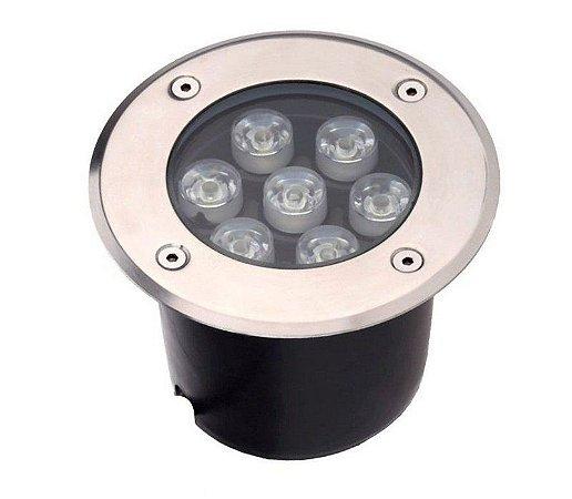 Spot Balizador LED de Chão 7W Verde para Piso