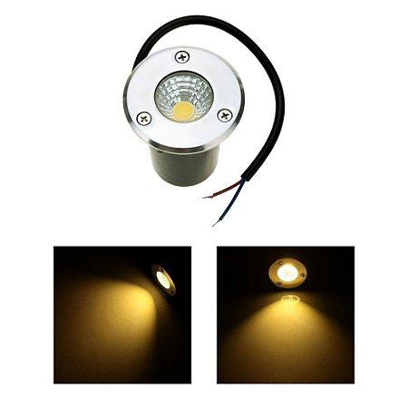 Spot Balizador LED de Chão COB 1W Branco Quente 3000K para Piscina