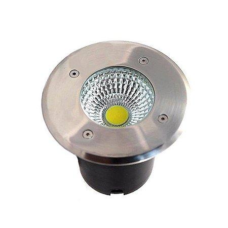 Spot Balizador LED de Chão COB 3W Branco Frio 6000k para Piso
