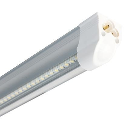 Lâmpada LED Tubular T8 18W 1,20m Cristal c/ Calha - Branco Frio 6000k