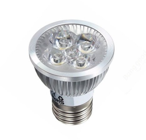 Lâmpada Par20 LED 5w Bivolt Branco Frio 6000k Aro Cromado