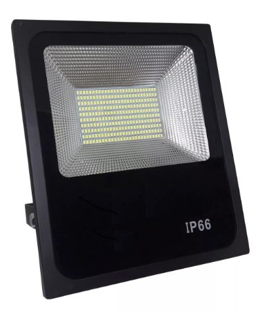 Refletor Holofote LED SMD Slim 100W Branco Frio 6000k
