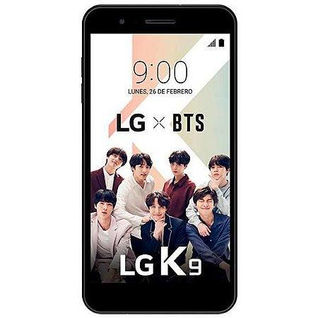 "Smartphone LG K9 LM-X210IMW Dual SIM 16GB Tela de 5.0"" 8MP/5MP OS 7.1.2 - Preto"