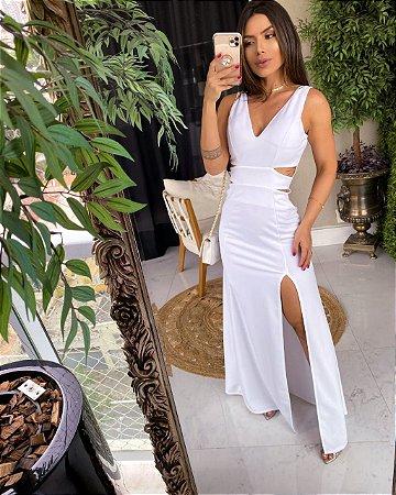 Vestido Longo Rubi Branco