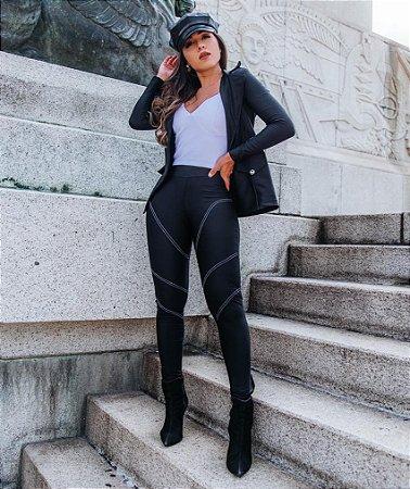 Calça Prada Skinny Anitta Preta