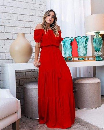 Vestido Longo Ciganinha Vermelho