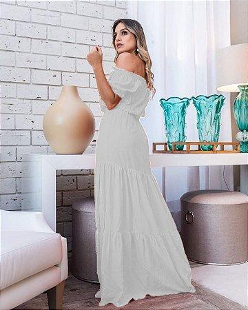 Vestido Longo Ciganinha Branco