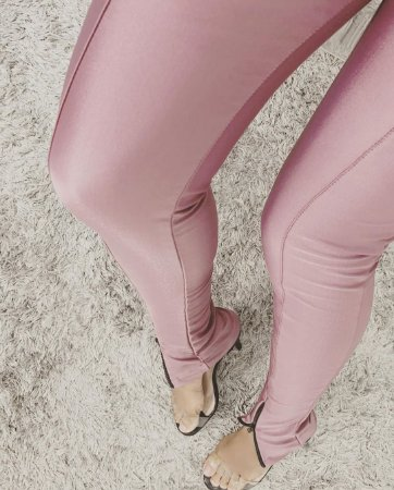Calça Skinny Cirre Recortes Rose