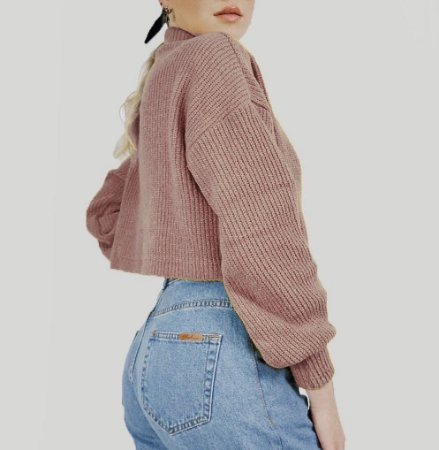Tricot Cropped Trend Rose