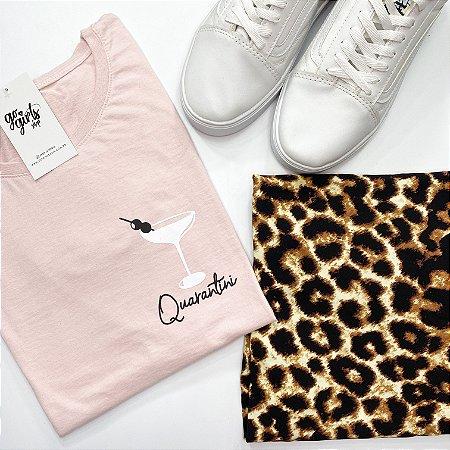 BOX - Saia Ana Animal Print + T-Shirt Quarantini