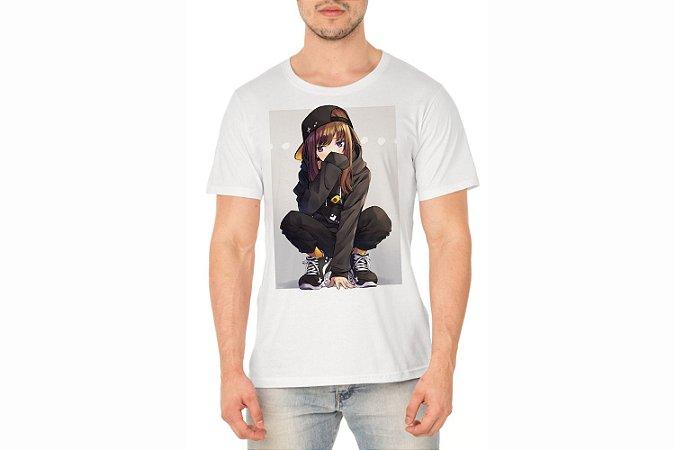 Camiseta Masculina Branca Personalizada