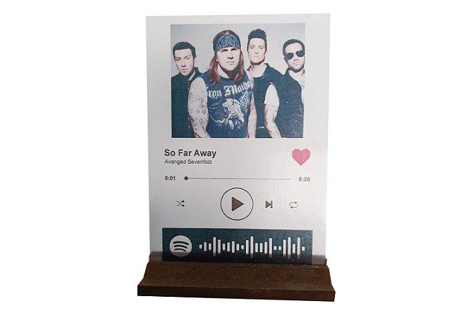 Plaquinha Spotify Interativa Personalizada 0,07mm