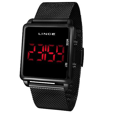 Relógio Lince Preto Digital MDN4596L PXPX