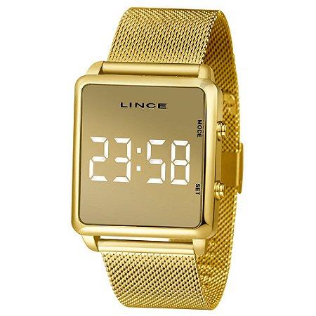 Relógio Lince Dourado Digital MDG4619L BXKX