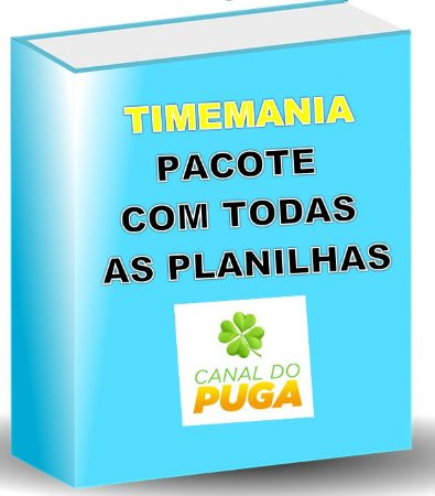 PACOTE DE PLANILHAS TIMEMANIA