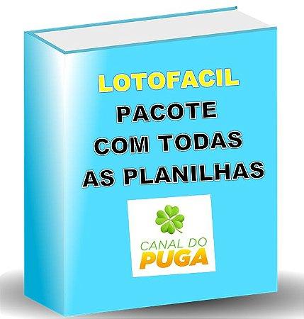 PACOTE DE PLANILHAS LOTOFACIL