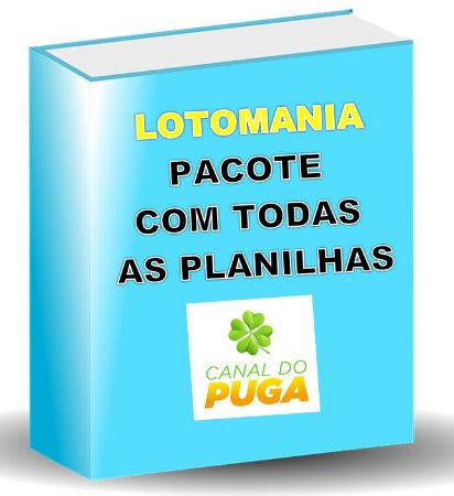 PACOTE DE PLANILHAS LOTOMANIA